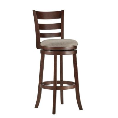 29 in. Armistead Cherry Swivel Cushioned Bar Stool