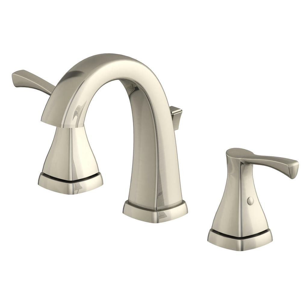 Glacier Bay Jaci 8 in. Widespread 2-Handle Bathroom Faucet in Brushed Nickel