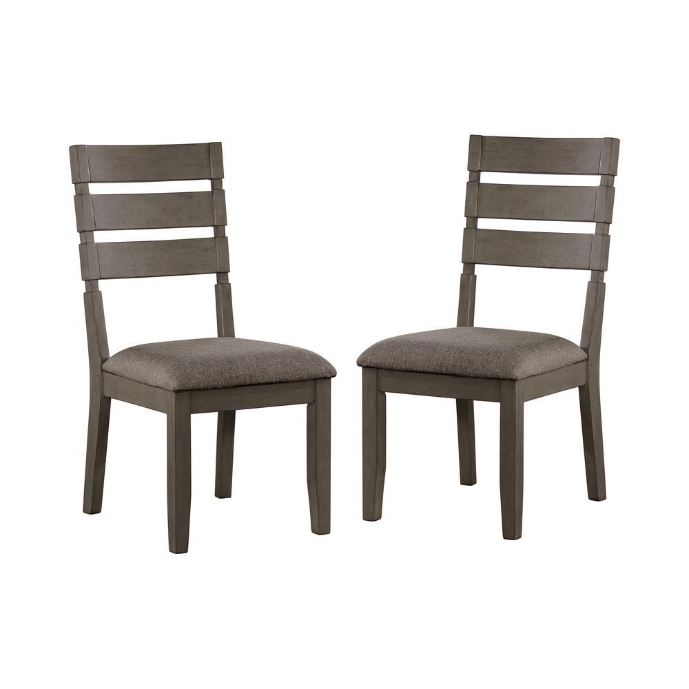 Zelia Gray and Light Gray Side Chairs (Set of 2)
