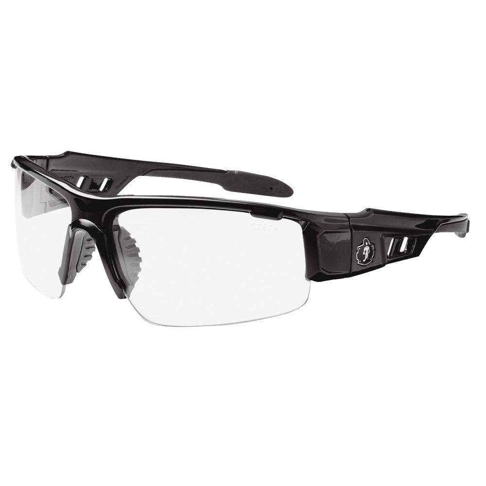 Clear Lens Black Safety Glasses
