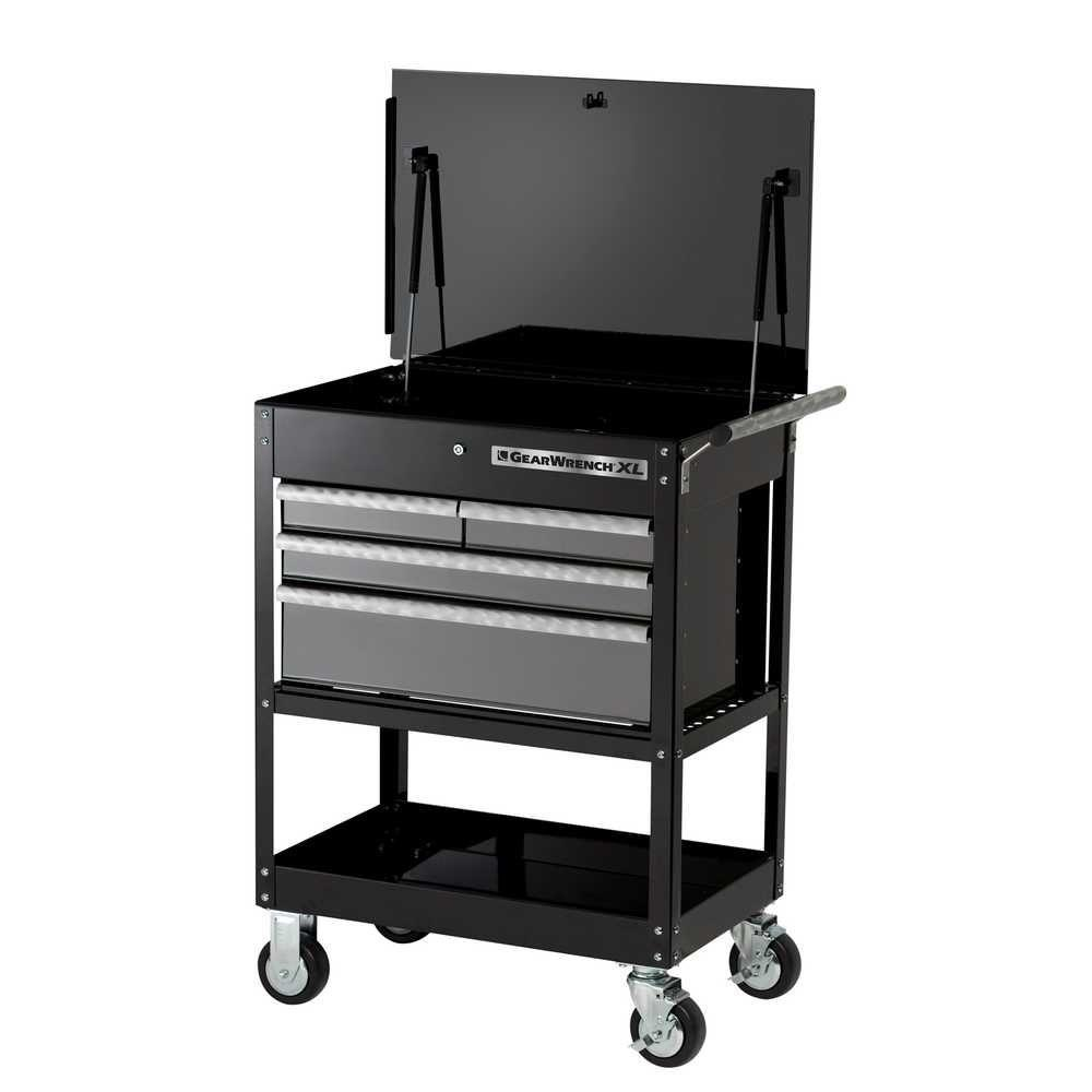 GearWrench XL Series 32 in 4 Drawer Tool Cart Black
