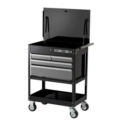 XL Series 32 in. 4-Drawer Tool Cart, Black/Silver
