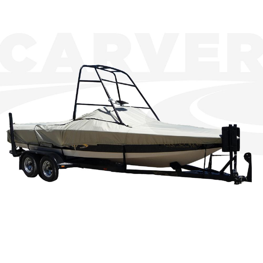 Styled-To-Fit Boat Cover For Tournament Ski Boats with Standard Tower,
