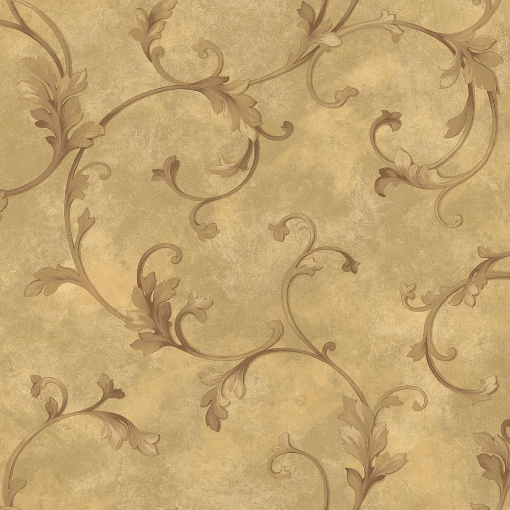 Brewster Island Grey Faux Grasscloth Wallpaper Fd23285