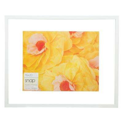 Float 11 in. x 14 in. White Picture Frame