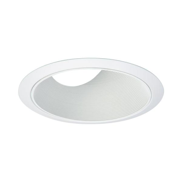 Halo 6 In White Recessed Lighting With Sloped Ceiling Trim With Baffle 456w The Home Depot