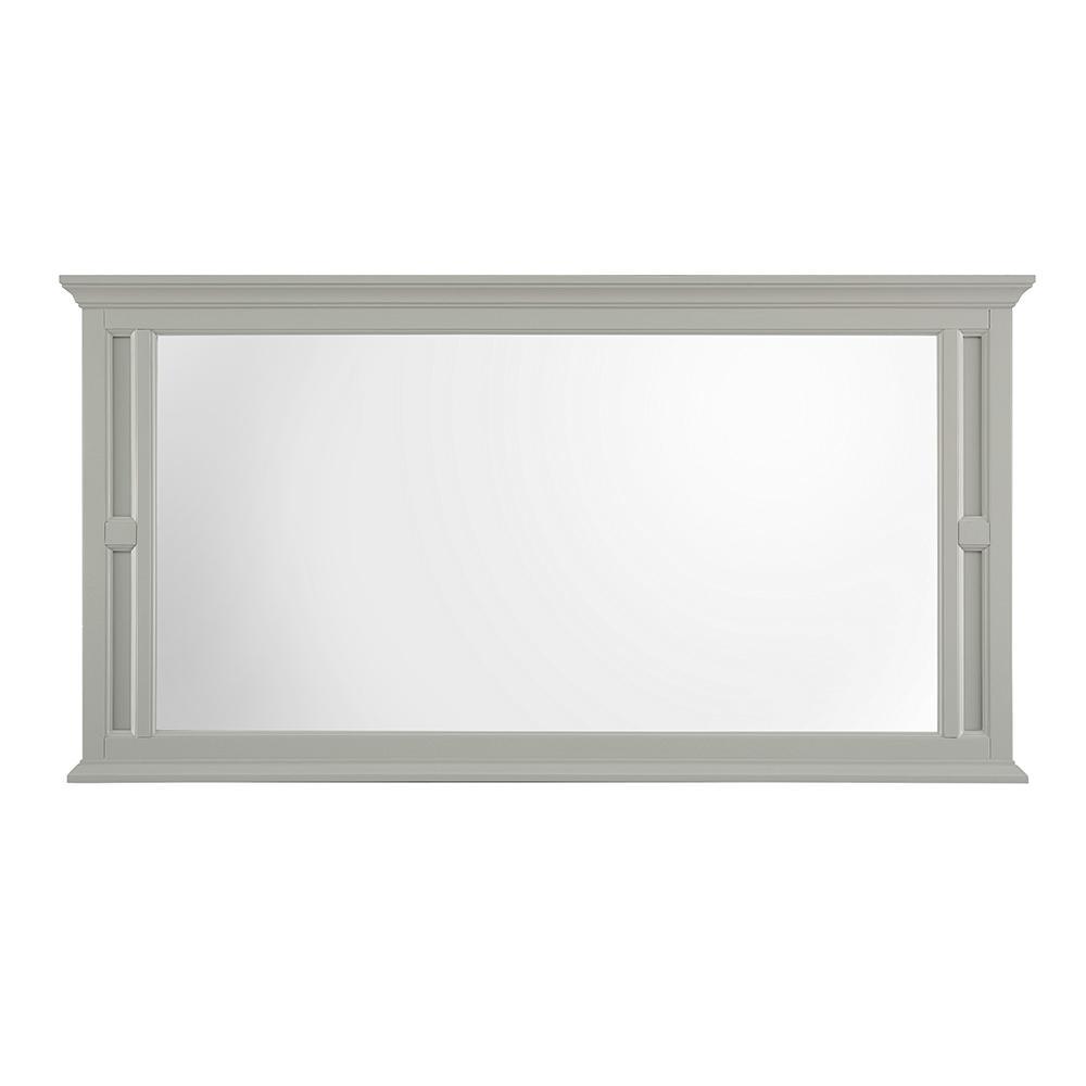 Charleston 60 in. W x 31 in. H Single Framed Wall Mirror in Grey