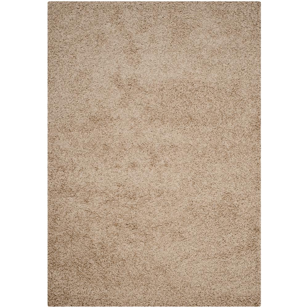 Athens Shag Beige 5 ft. 1 in. x 7 ft. 6
