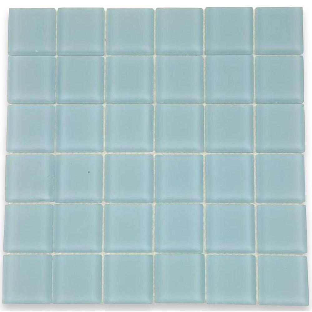 Blue Gray - Glass Tile - Tile - The Home Depot