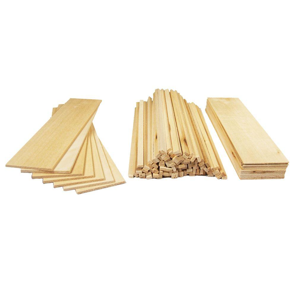 Midwest Products Basswood Project Wood Economy Bag Assortment-PW020 ...