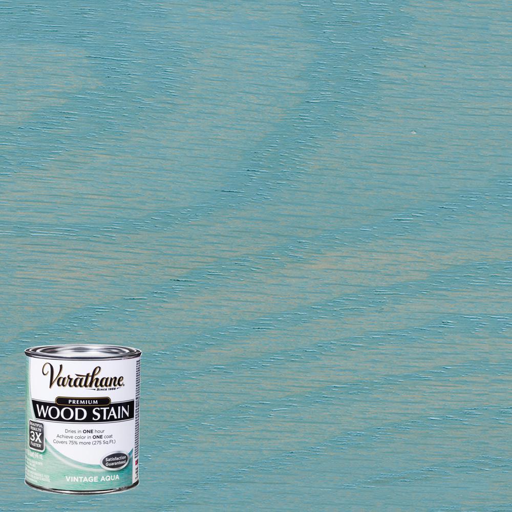 1 qt. Vintage Aqua Premium Fast Dry Interior Wood Stain (2-Pack)