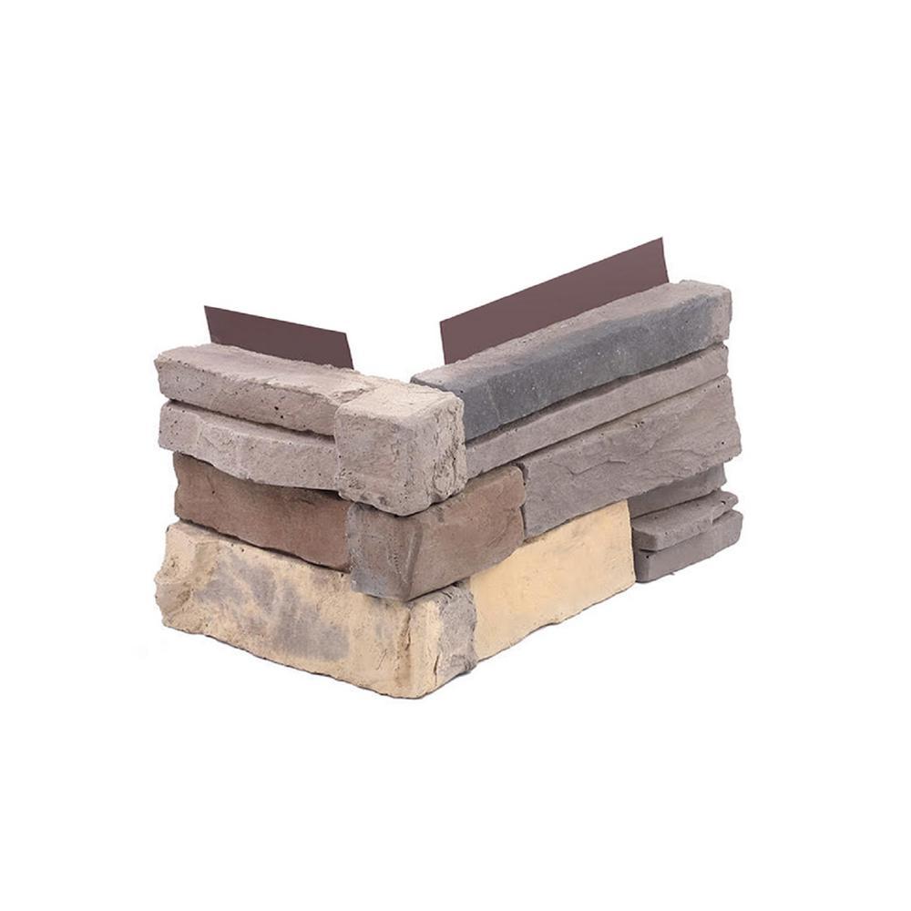 1.75 in. x 6 in. Terra Stone Veneer Siding (Corners)