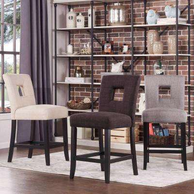 Sorrento 24 in. Charcoal Cushioned Bar Stool (Set of 2)