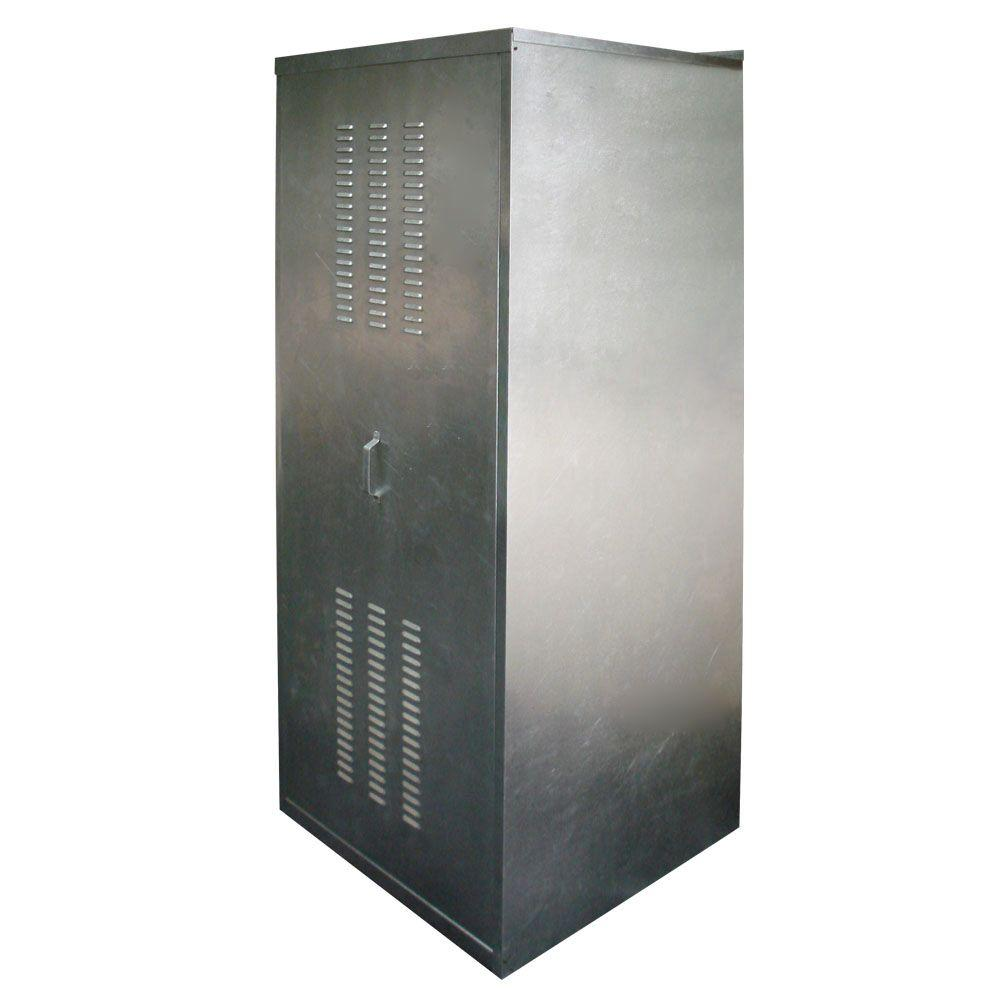 Holdrite 24 in water heater enclosure qs e24 h the home - Exterior hot water heater enclosure ...