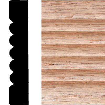 3/4 in. x 4 in. x 7 ft. Oak Ribbed Fluted Casing