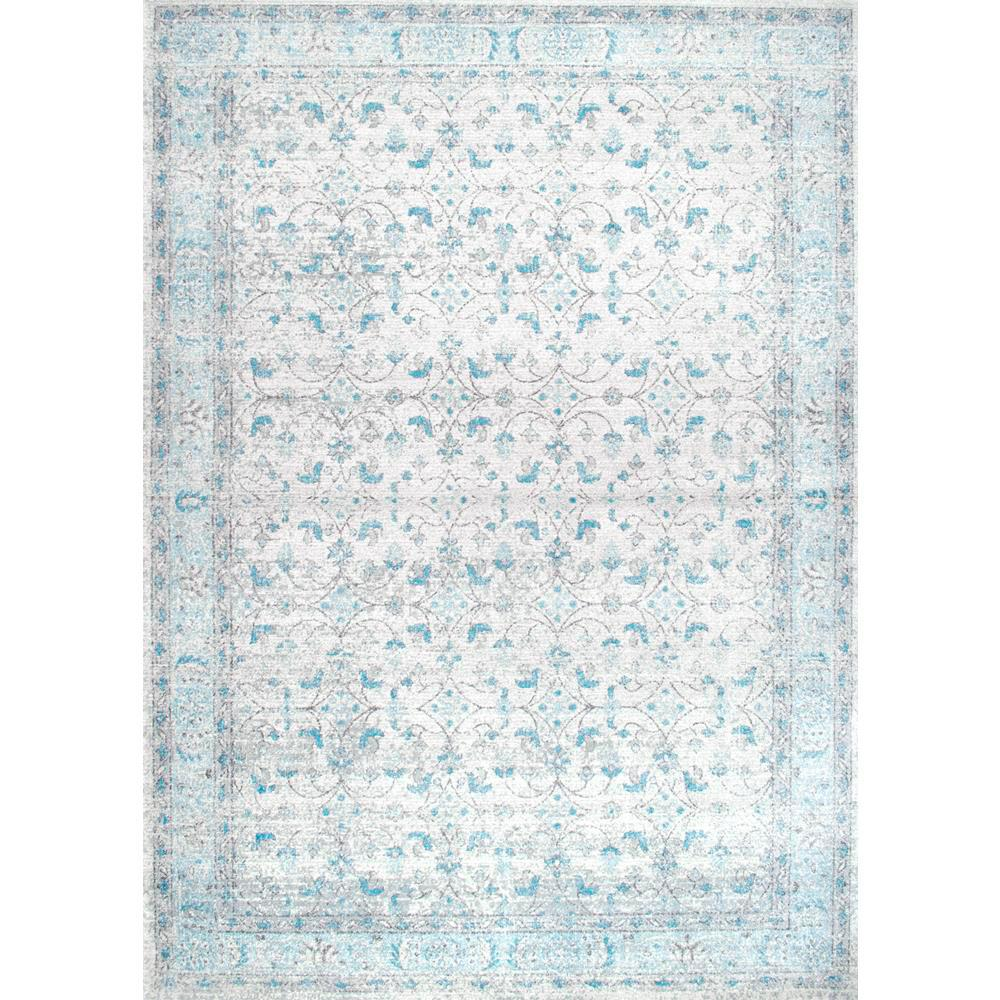 This Review Is From Vintage Lindy Aqua 5 Ft X 7 In Area Rug