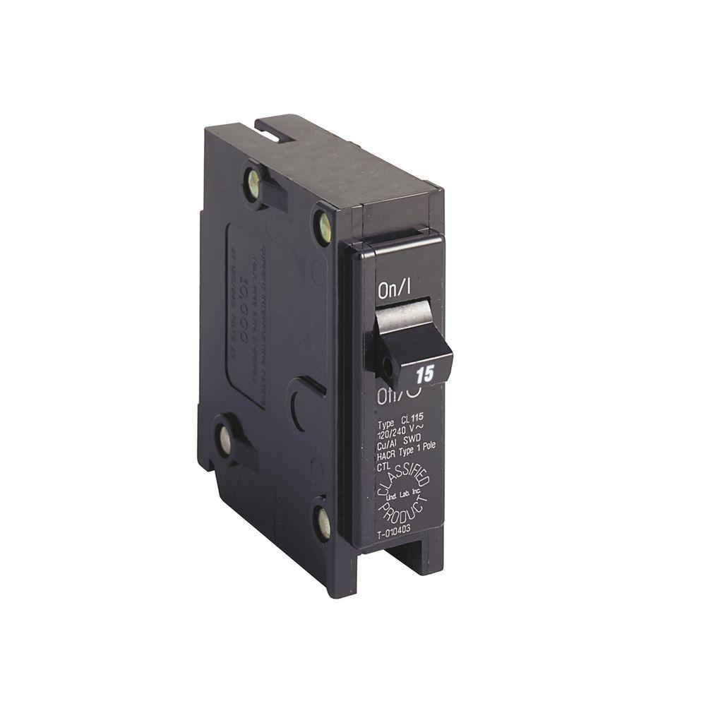 Eaton Cl 15 Amp 1 Pole Circuit Breaker Cl115 The Home Depot Series Parallel
