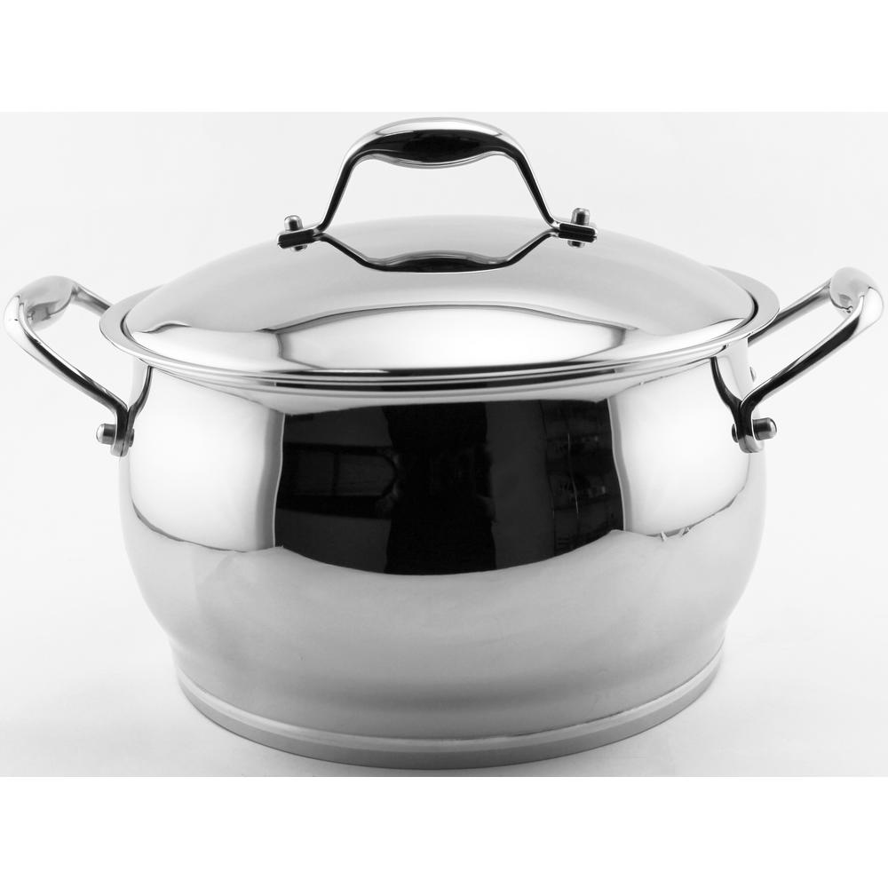 Zeno 7 Qt. 18/10 Stainless Steel Stock Pot with Lid