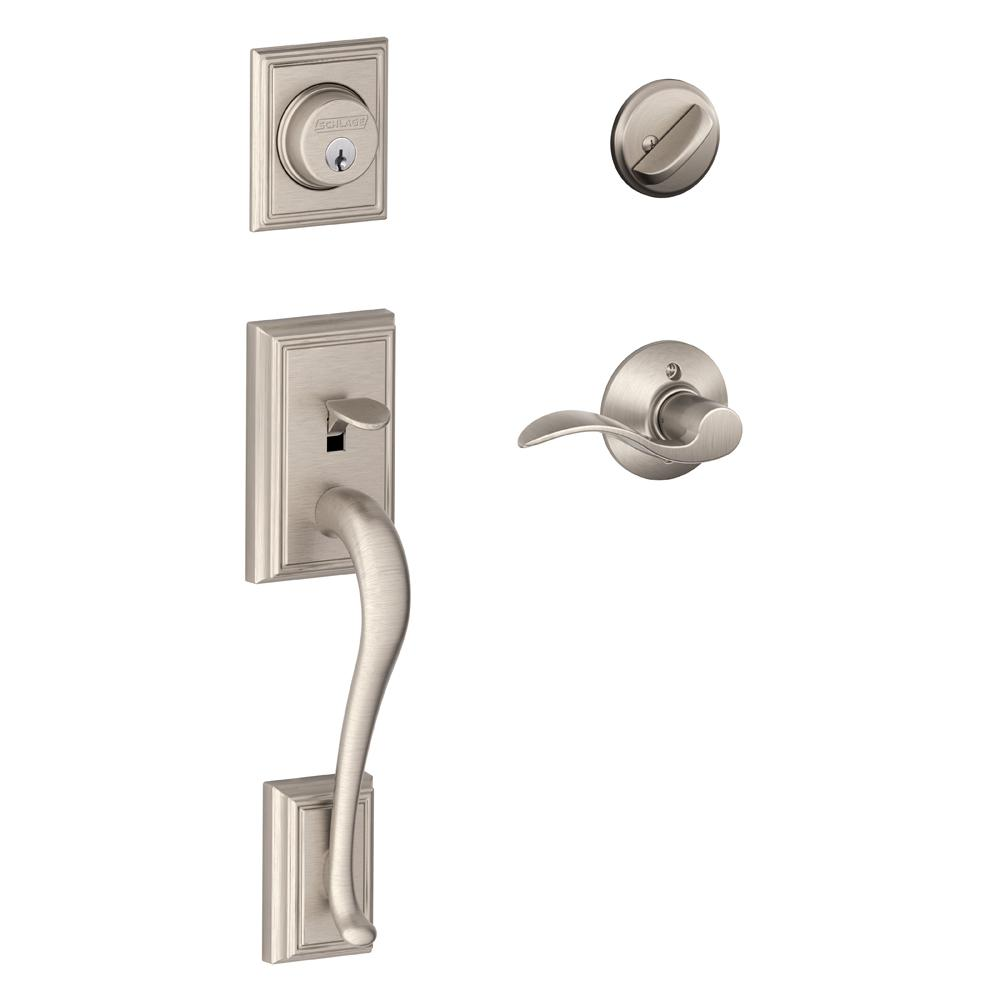 Schlage Accent Satin Nickel Addison Trim Single Cylinder