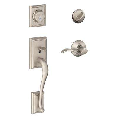 Accent Satin Nickel Addison Trim Single Cylinder Handleset Lever