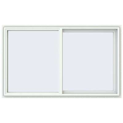 59.5 in. x 35.5 in. V-4500 Series White Vinyl Right-Handed Sliding Window with Fiberglass Mesh Screen
