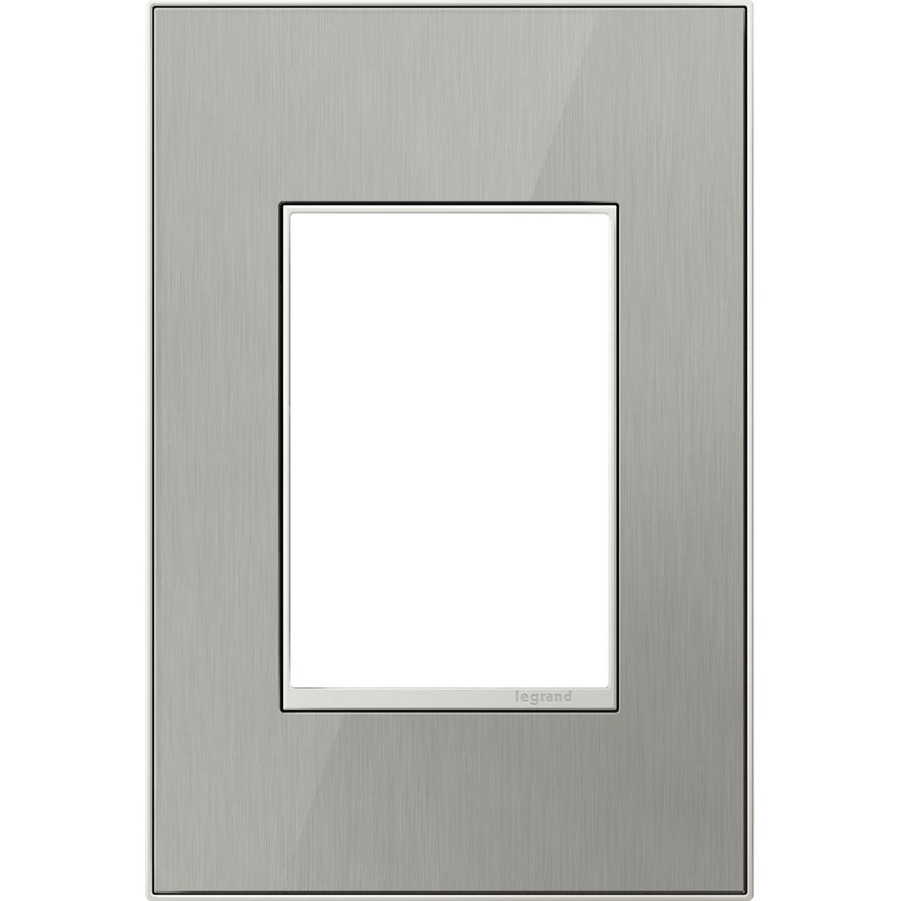 1-Gang 3 Module Wall Plate - Brushed Stainless