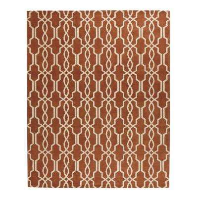 Kingston Rust/Ivory 9 ft. x 12 ft. Indoor Area Rug