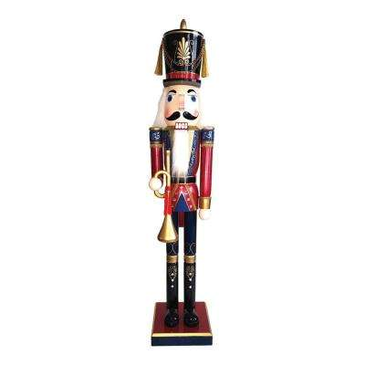 60 in. Royal Bugler Nutcracker with Bugle