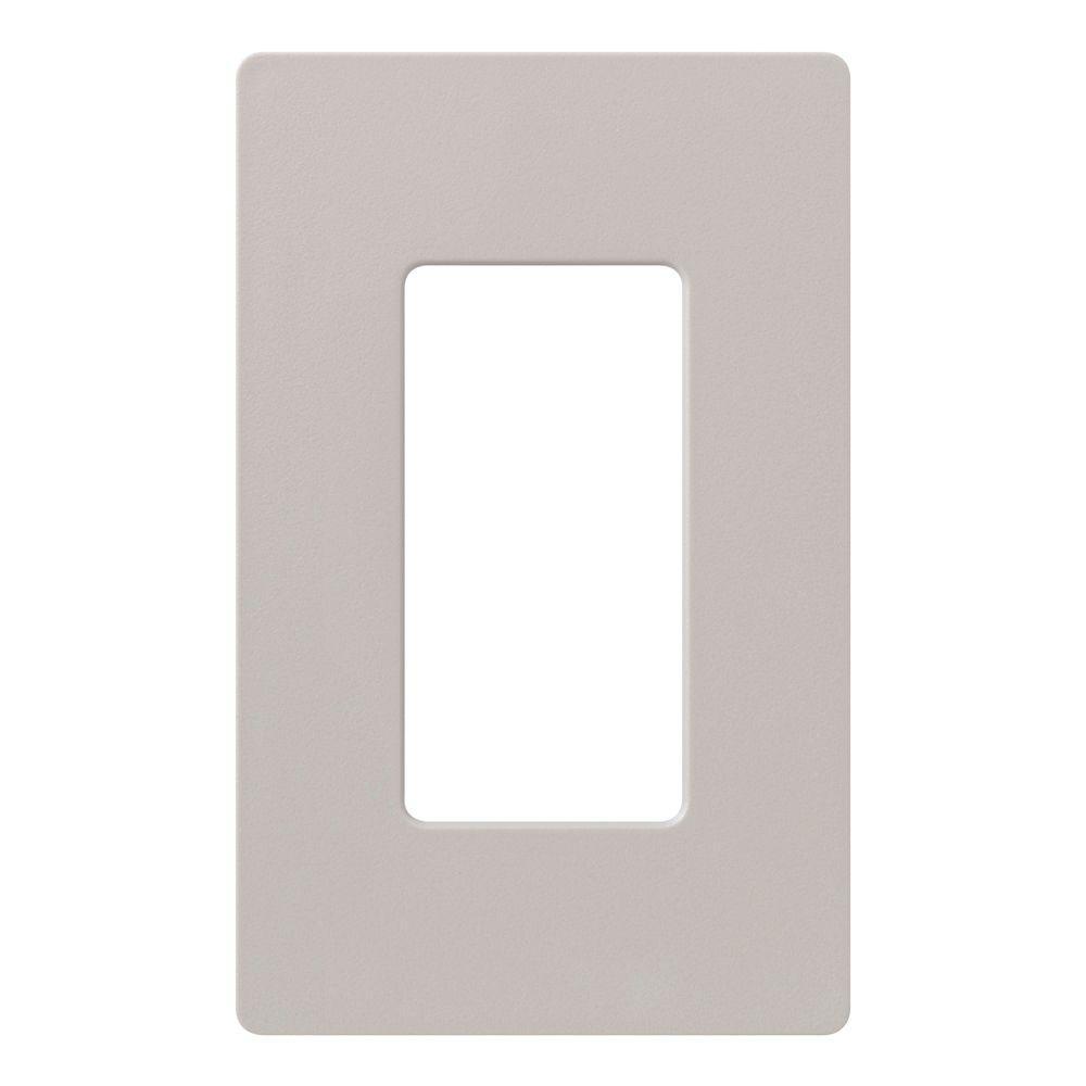 Lutron Claro 1 Gang Wall Plate White