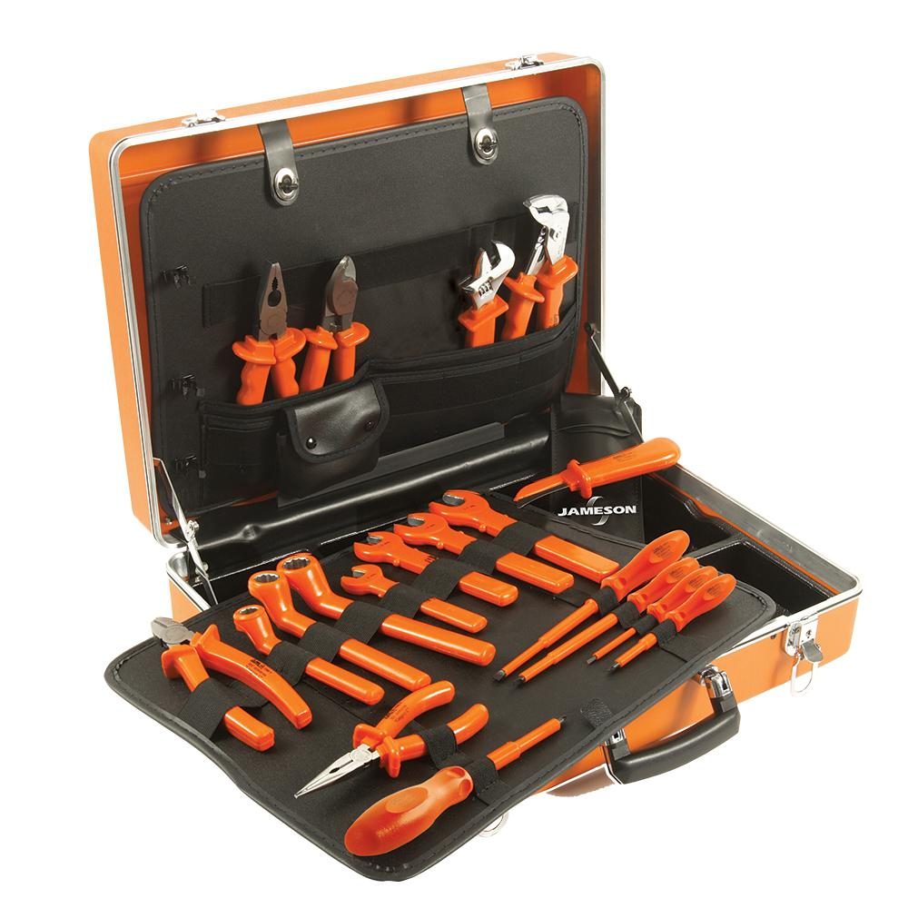 19-Piece 1000-Volt Insulated Deluxe Utility Tool Set
