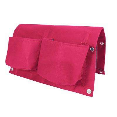 17 in. Amaranth Fabric Deck Rail Planter Bag