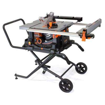 15 Amp 10 in. Jobsite Table Saw with Rolling Stand