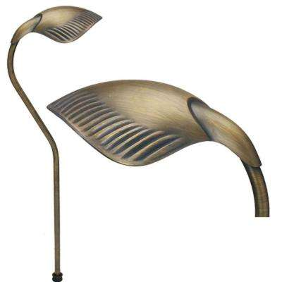 1-Light Antique Bronze Die Cast Brass Path Light