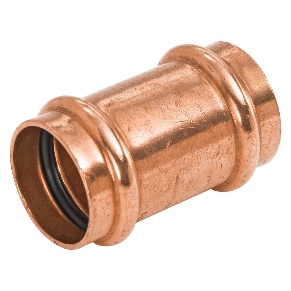 NIBCO 1 in. Copper Press x Press Pressure Repair Coupling with No Stop