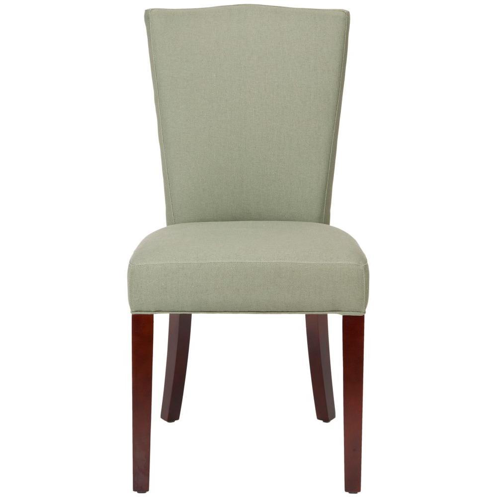Safavieh Colette Sea Mist Birchwood Linen Side Chair (Set of 2) - DISCONTINUED