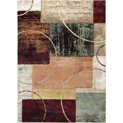 Deco Multi 7 ft. 10 in. x 10 ft. 3 in. Contemporary Area Rug