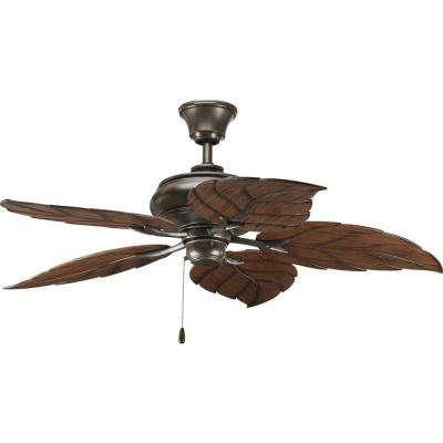 AirPro 52 in. Indoor or Outdoor Antique Bronze Rustic Ceiling Fan
