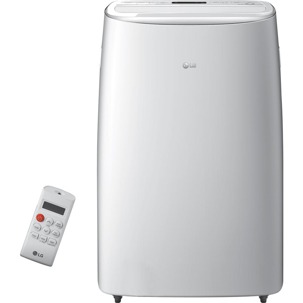 LG Electronics 14,000 BTU (10,000 BTU, DOE) Portable Air Conditioner, Dual Inverter, Quiet, Energy Eff, Wi-Fi with LCD Remote in White