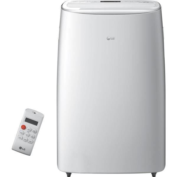 14,000 BTU (10,000 BTU, DOE) Portable Air Conditioner, Dual Inverter, Quiet, Energy Eff, Wi-Fi with LCD Remote in White