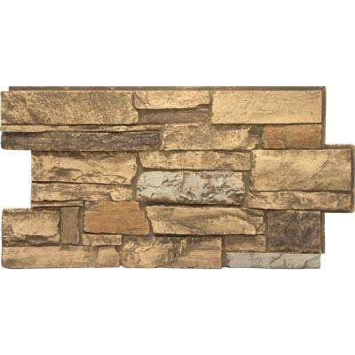 Mountain Country 24 in. x 48 in. x 1-1/4 in. Faux Ledgestone Veneer Panel