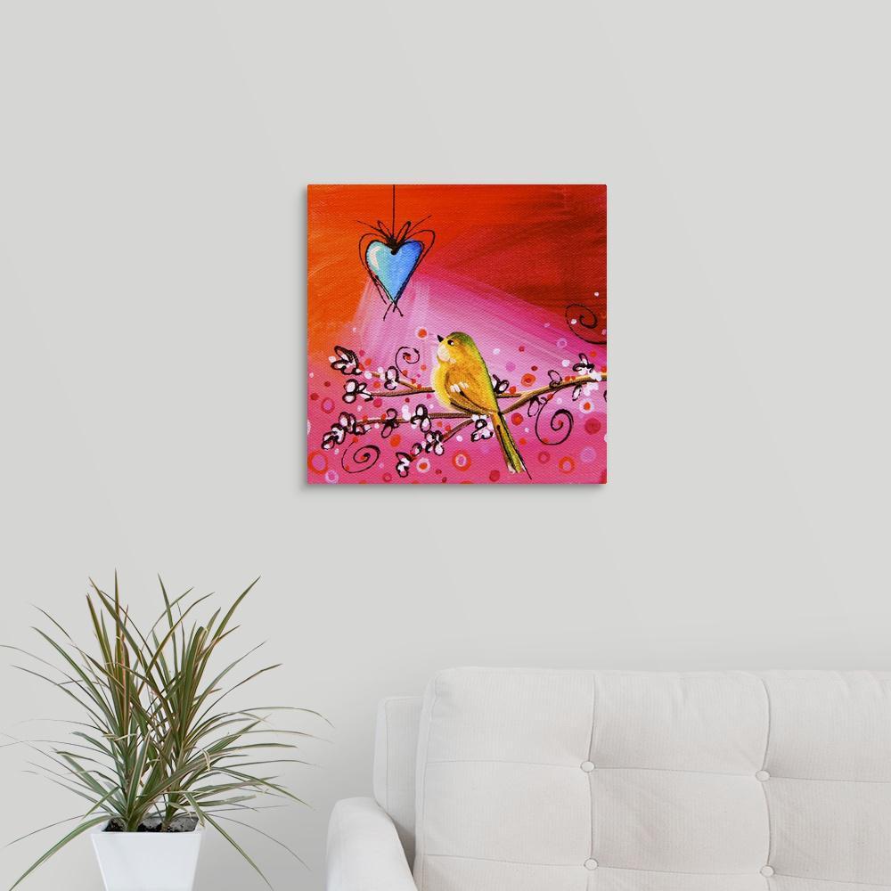 Greatbigcanvas Song Bird Ix By Cindy Thornton Canvas Wall Art