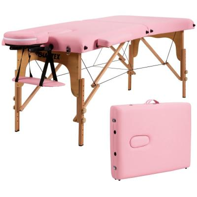 2 in. Rectangle Leather Firm Comfort Folding Mattress Pink