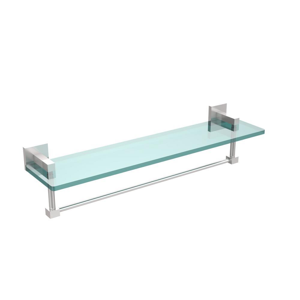 Kraus Aura Bathroom Shelf With Railing In Chrome Kea