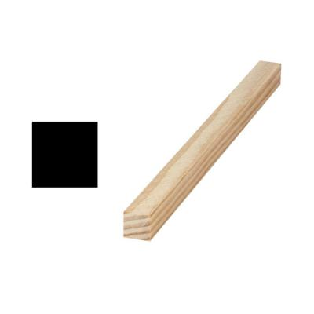 LWM 239 3/4 in. x 3/4 in. x 96 in. Solid Pine S4S Moulding