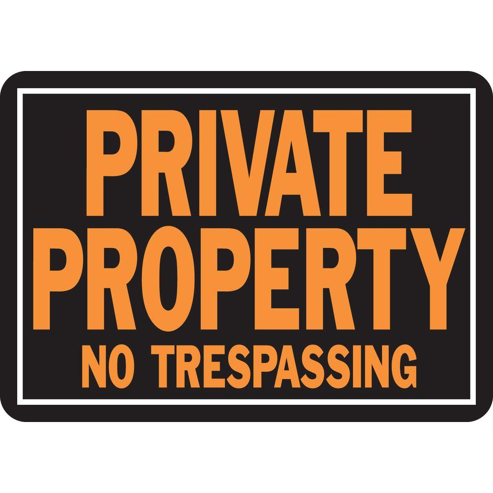 graphic relating to Printable No Trespassing Sign identified as HY-KO 10 within just. x 14 inside. Aluminum Particular Residence No