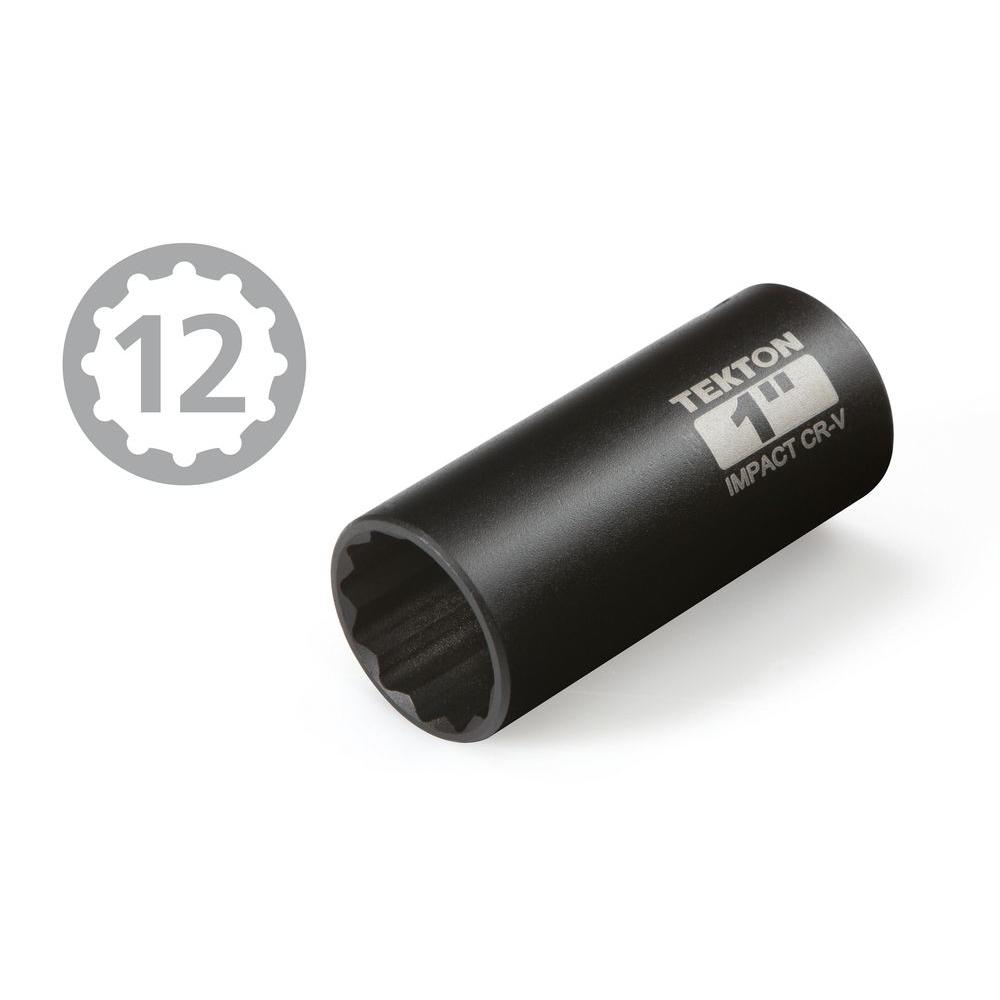 1-1//4-Inch Inch 14-Sockets 12-Point 3//8-Inch TEKTON 4879 1//2-Inch Drive Deep Impact Socket Set Cr-V