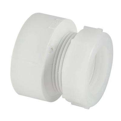 1-1/2 in. x 1-1/4 in. PVC DWV Hub x SJ Trap Adapter