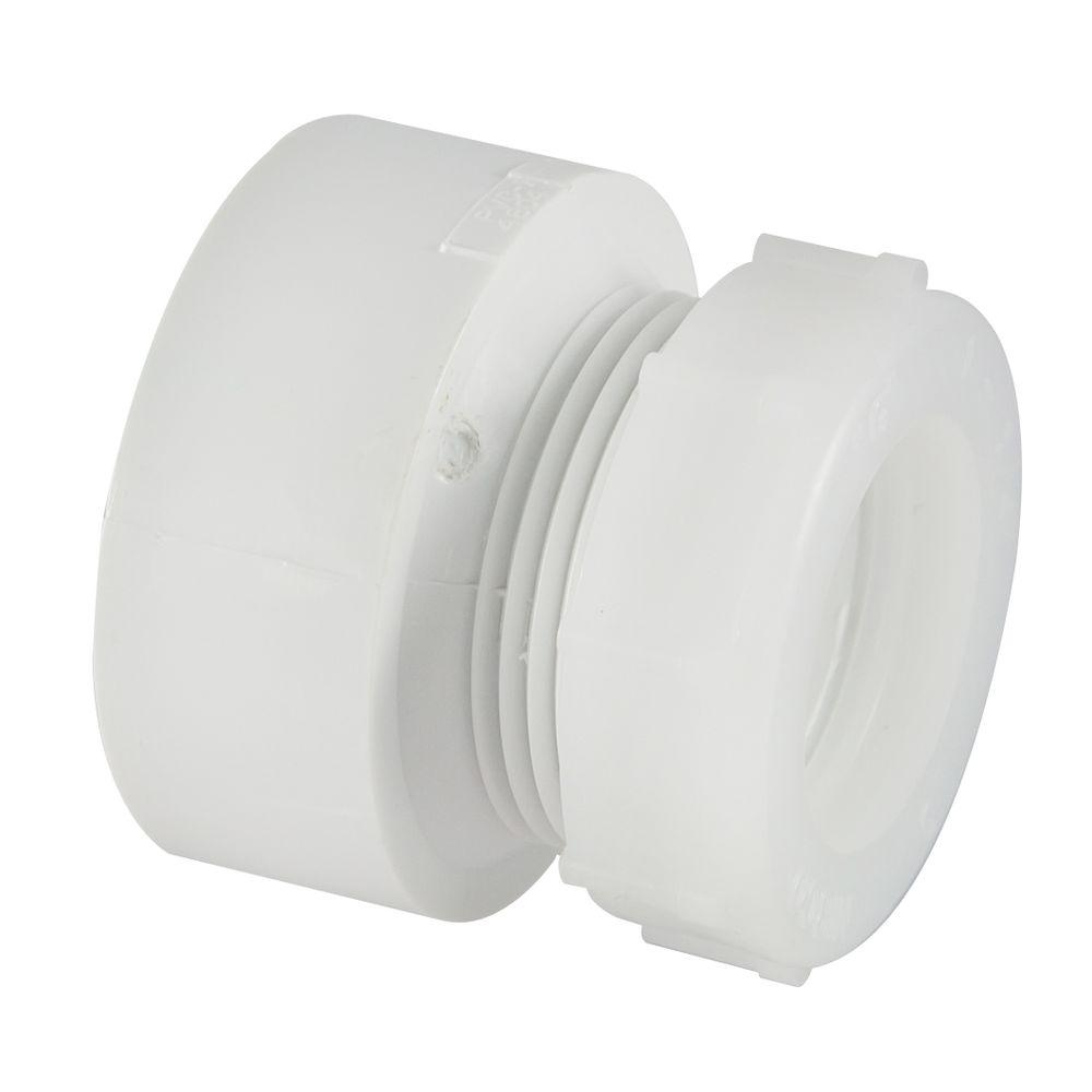 NIBCO 1-1/2 in. x 1-1/4 in. PVC DWV Hub x SJ Trap Adapter