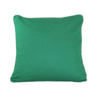 20 in. x 20 in. Emerald  Standard Pillow with Green Eco Friendly Insert