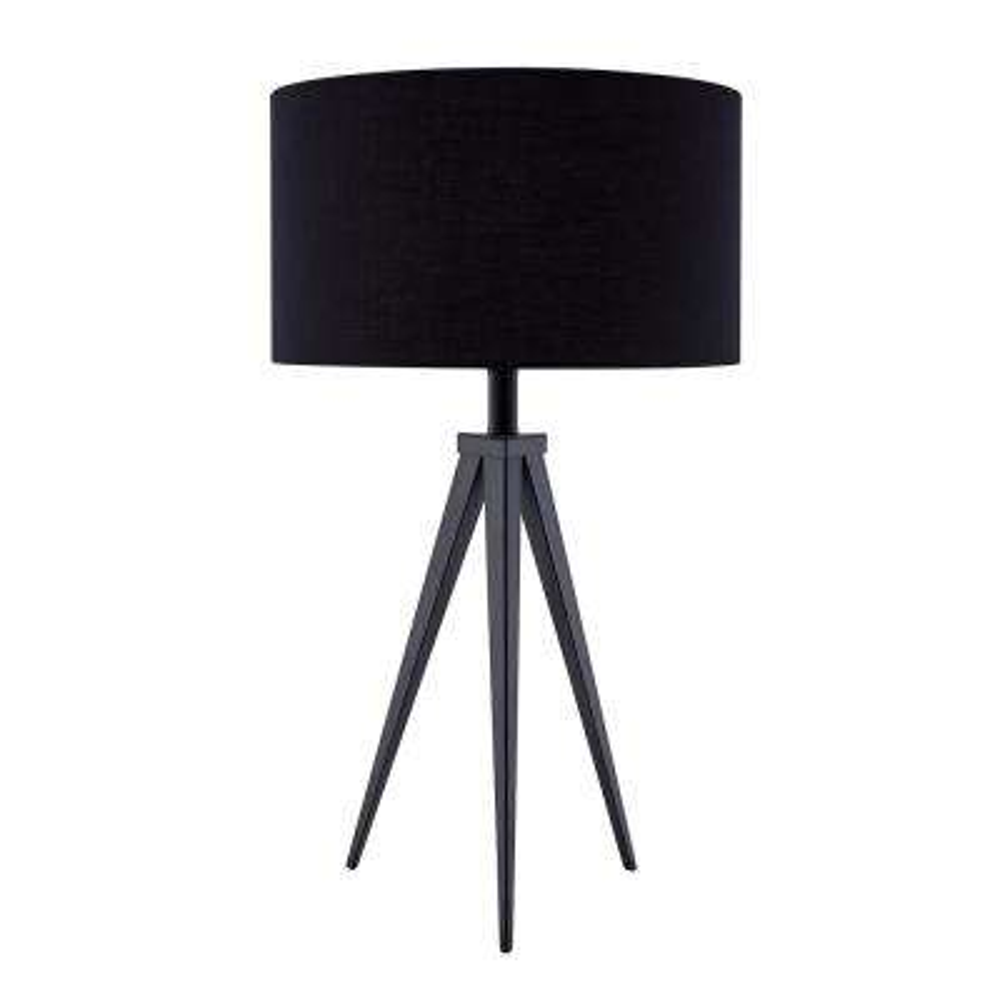 Zeppi 24.5 in. Black Table Lamp Set